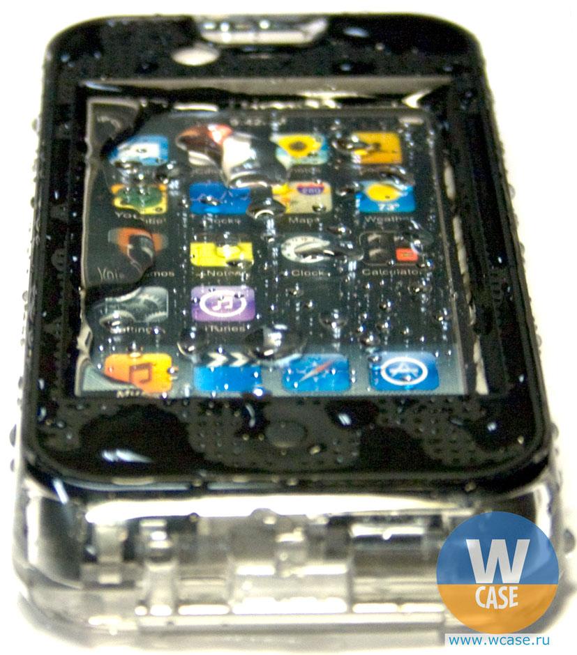 Непромокаемый чехол влагозащищенный iPhone 4
